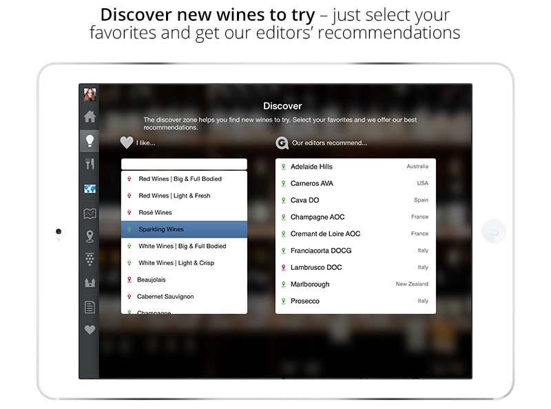 Discover New Wines | Wine App for iPad & iPhone