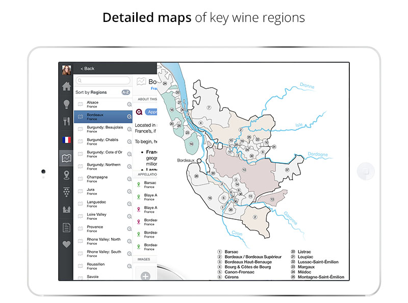 Wine Region Maps | Wine App for iPad & iPhone